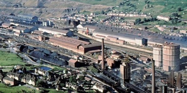 Ebbw Vale Works from Domen
