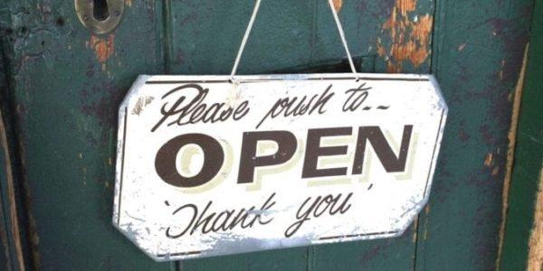 Online shop door